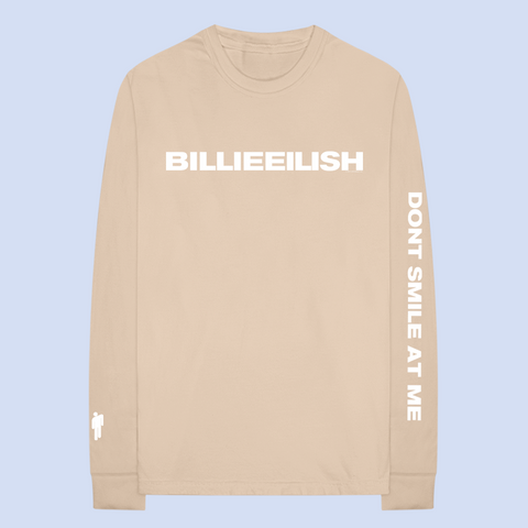 """dont smile at me"" tan long sleeve"