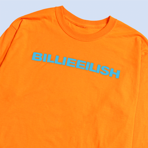 """dont smile at me"" ORANGE LONG SLEEVE"