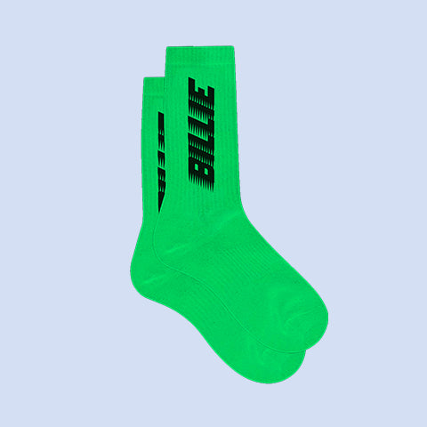 BILLIE GREEN SLIME SOCKS