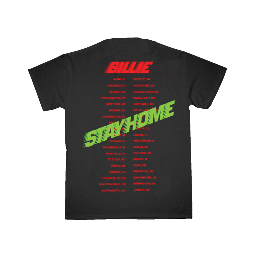 STAY HOME Black and Red Tour T-Shirt