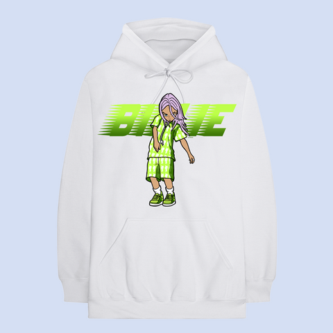 RACER ANIMATION WHITE HOODIE