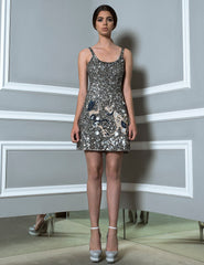 Silver Dress in sequins