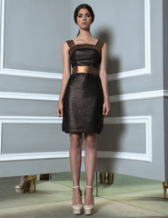 Copper Mesh Dress with Copper Belt
