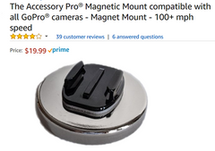 more expensive gopro magnet mount on amazon without safety tether