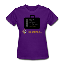 Load image into Gallery viewer, Cruise Checklist Shirt (Women's) - purple