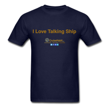Load image into Gallery viewer, I Love Talking Ship - Men's T-Shirt - navy