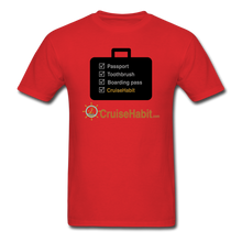 Load image into Gallery viewer, Cruise Checklist Shirt (Men's) - red