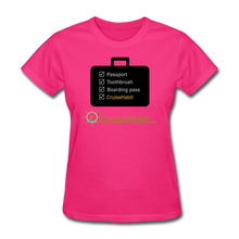 Load image into Gallery viewer, Cruise Checklist Shirt (Women's) - fuchsia