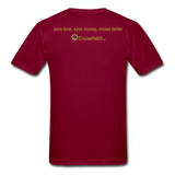 I Love Talking Ship - Men's T-Shirt - burgundy
