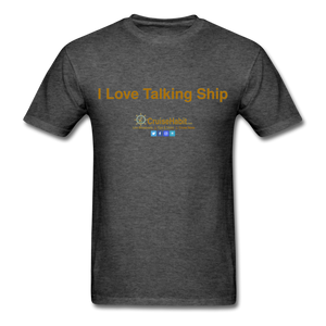 I Love Talking Ship - Men's T-Shirt - heather black