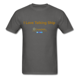 I Love Talking Ship - Men's T-Shirt - charcoal