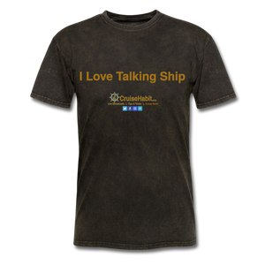 I Love Talking Ship - Men's T-Shirt - mineral black