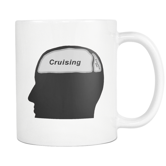 Cruising on the Brain Coffee Mug - CruisieHabit Cruise Accessories & Gear