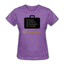 Load image into Gallery viewer, Cruise Checklist Shirt (Women's) - purple heather