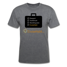 Load image into Gallery viewer, Cruise Checklist Shirt (Men's) - mineral charcoal gray