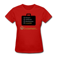 Load image into Gallery viewer, Cruise Checklist Shirt (Women's) - red