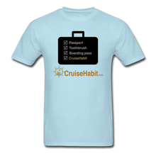 Load image into Gallery viewer, Cruise Checklist Shirt (Men's) - powder blue