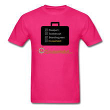 Load image into Gallery viewer, Cruise Checklist Shirt (Men's) - fuchsia