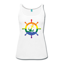Load image into Gallery viewer, CruiseHabit LGBTQ+ Pride & Equality Shirt - Net Proceeds Go to Charity - Women's Tank - white