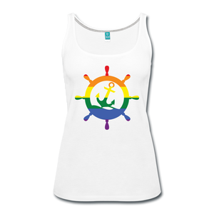 CruiseHabit LGBTQ+ Pride & Equality Shirt - Net Proceeds Go to Charity - Women's Tank - white