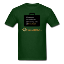 Load image into Gallery viewer, Cruise Checklist Shirt (Men's) - forest green