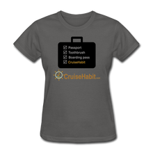 Load image into Gallery viewer, Cruise Checklist Shirt (Women's) - charcoal