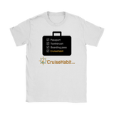 Cruise Checklist Shirt (Women's) - CruisieHabit Cruise Accessories & Gear