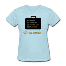 Load image into Gallery viewer, Cruise Checklist Shirt (Women's) - powder blue