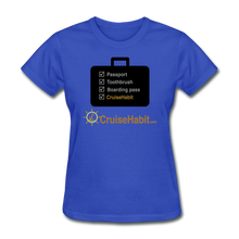 Load image into Gallery viewer, Cruise Checklist Shirt (Women's) - royal blue