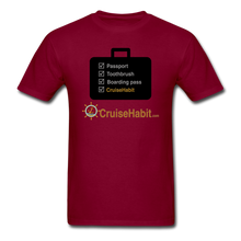 Load image into Gallery viewer, Cruise Checklist Shirt (Men's) - burgundy