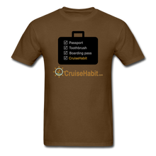 Load image into Gallery viewer, Cruise Checklist Shirt (Men's) - brown