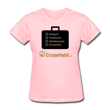 Load image into Gallery viewer, Cruise Checklist Shirt (Women's) - pink