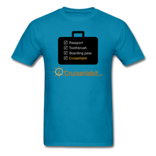 Load image into Gallery viewer, Cruise Checklist Shirt (Men's) - turquoise