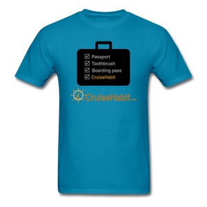 Cruise Checklist Shirt (Men's) - turquoise