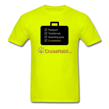 Load image into Gallery viewer, Cruise Checklist Shirt (Men's) - safety green