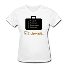 Load image into Gallery viewer, Cruise Checklist Shirt (Women's) - white