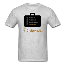 Load image into Gallery viewer, Cruise Checklist Shirt (Men's) - heather gray
