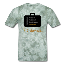 Load image into Gallery viewer, Cruise Checklist Shirt (Men's) - military green tie dye