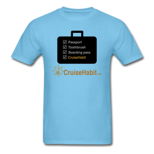 Load image into Gallery viewer, Cruise Checklist Shirt (Men's) - aquatic blue