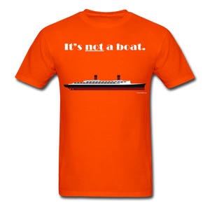 """It's Not a Boat"" (Ocean Liner Design - Men's T-Shirt-CruiseHabit"