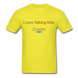 I Love Talking Ship - Men's T-Shirt - yellow