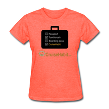Load image into Gallery viewer, Cruise Checklist Shirt (Women's) - heather coral