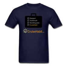 Load image into Gallery viewer, Cruise Checklist Shirt (Men's) - navy