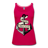 Ship Faced - Women's Tank Cruise Shirt - dark pink