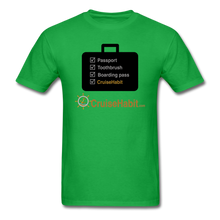 Load image into Gallery viewer, Cruise Checklist Shirt (Men's) - bright green
