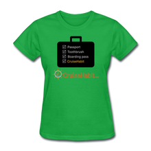 Load image into Gallery viewer, Cruise Checklist Shirt (Women's) - bright green