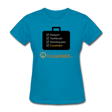 Load image into Gallery viewer, Cruise Checklist Shirt (Women's) - turquoise