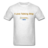 I Love Talking Ship - Men's T-Shirt - light heather grey