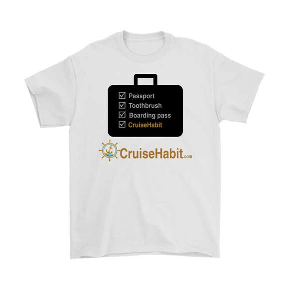 Cruise Checklist Shirt (Men's) - CruisieHabit Cruise Accessories & Gear