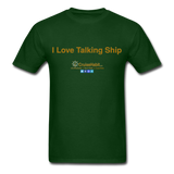 I Love Talking Ship - Men's T-Shirt - forest green